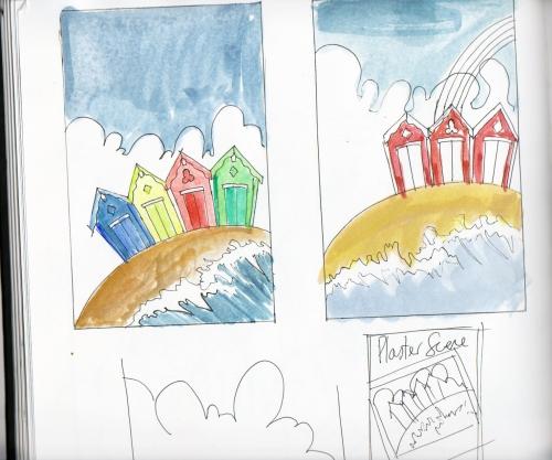Huts Sketch 01